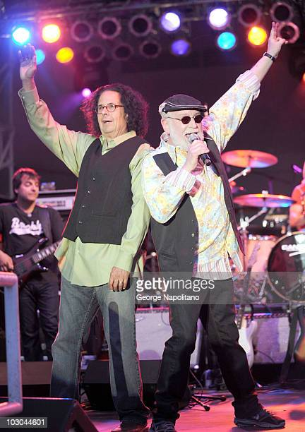 Howard Kaylan and Mark Volman better know as Flo Eddie of The Turtles perform during the 32nd Annual Seaside Summer concert series>> at Asser Levy...