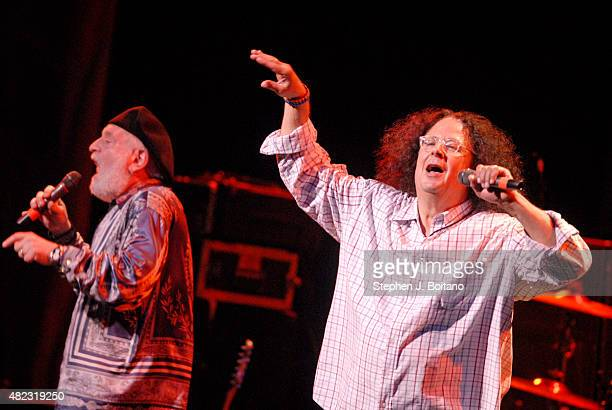 Howard Kaylan and Mark Volman of the Turtles performs during Hippifest in Vienna Virginia