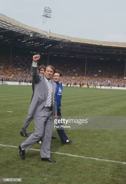 Howard Kendall , manager of Everton F.C., at Wembley Stadium in London on the day of the FA Cup final, 19th May 1984. Everton beat Watford 2-0.
