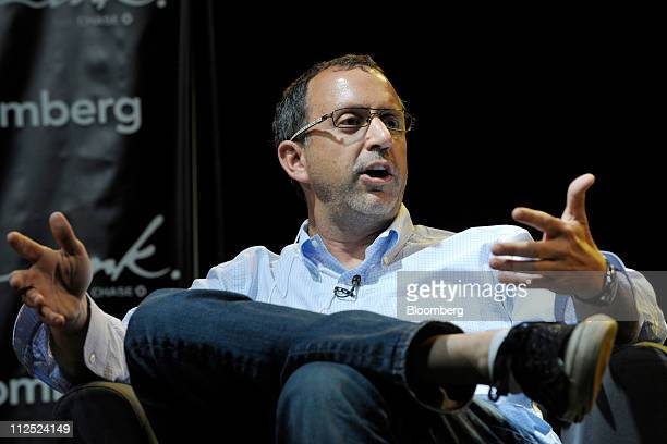 Howard Lindzon chief executive officer of StockTwits speaks at Bloomberg Link Empowered Entrepreneur Summit in New York US on Thursday April 14 2011...