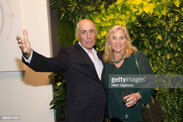 Howard Lorber and Dr Christine Namer attend the Alfa Development Launch Celebration on October 12 2017 in New York City