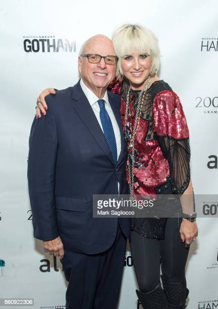 Howard Lorber and ML Perlman attend the Alfa Development Launch Celebration on October 12 2017 in New York City