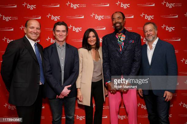 """Howard Lutnick, Billy Crudup, Allison Lutnick, Walt """"Clyde"""" Frazier, and David Costabile attends Annual Charity Day Hosted By Cantor Fitzgerald, BGC..."""