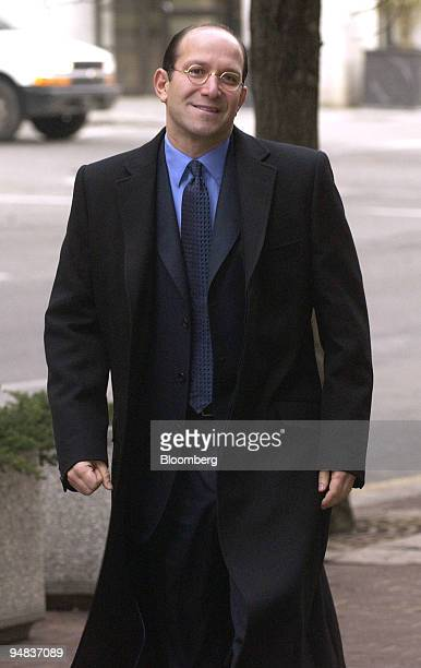 Howard Lutnick CEO Cantor Fitzgerald arrives at the federal court house in Wilmington Delaware on Wednesday February 9 2005 to testify in a patent...