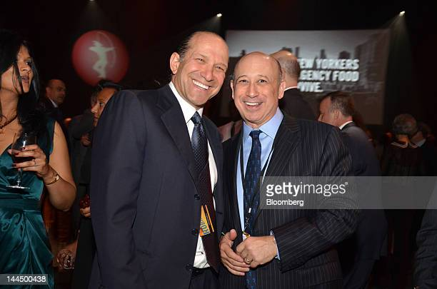 Howard Lutnick, chairman and chief executive officer of Cantor Fitzgerald LP, left, and Lloyd C. Blankfein, chairman and chief executive officer of...