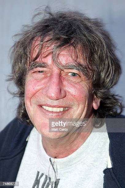 Howard Marks smiles as he sits in the backtage bar at Worthy Farm Pilton near Glastonbury on June 22 2007 in Somerset England The festival that was...