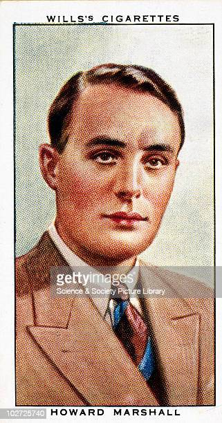 'Howard Marshall' cigarette card Wills' cigarette card from 'Radio Celebrities' series 2 1934 'Howard Marshall was born at Sutton Surrey in 1900 The...