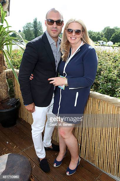 Howard Quartey and Dawn Donohoe attends the Mahiki Coconut tent at the Henley Royal Regatta on July 4 2014 in HenleyonThames England