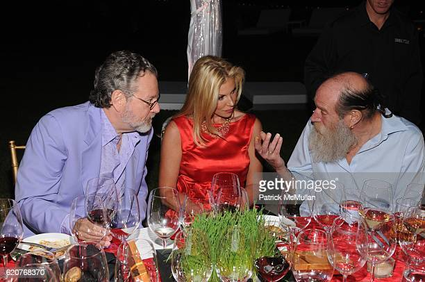 Howard Rachofsky Amy Phelan and Lawrence Weiner attend AMY JOHN PHELAN host wineCRUSH for the ASPEN ART MUSEUM at Phelan Residence on July 30 2008 in...