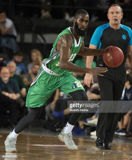 Howard SantRoos #23 of Darussafaka Istanbul in action during the 7DAYS EuroCup Basketball Finals game two between Darussafaka Istanbul v Lokomotiv...