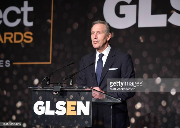 Howard Schultz attend the GLSEN Respect Awards at the Beverly Wilshire Four Seasons Hotel on October 19 2018 in Beverly Hills California