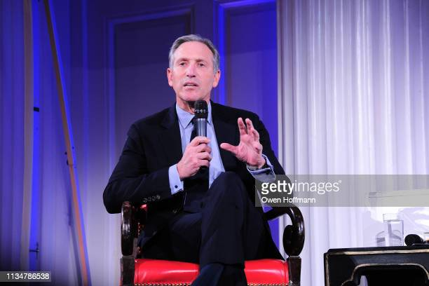 Howard Schultz attends BCNY Annual Luncheon at 583 Park Avenue on April 3 2019 in New York City