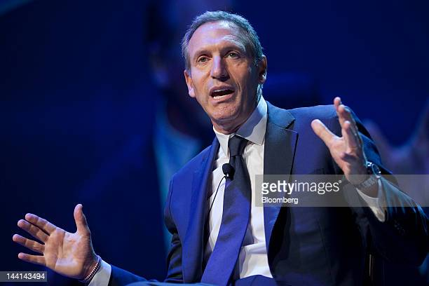 Interview With Starbucks Ceo Howard Schultz Stock Photos ...