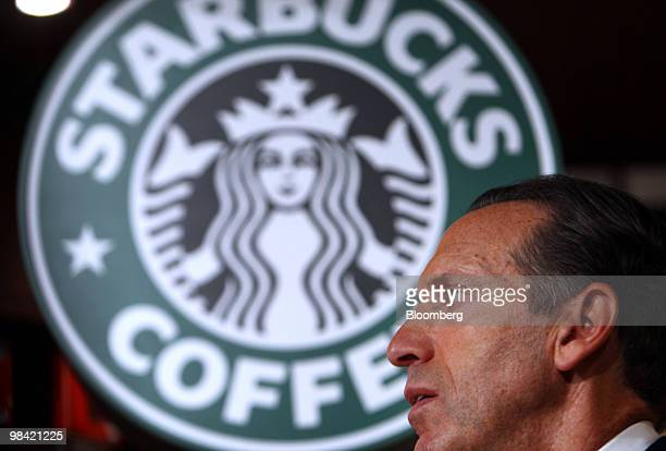 Howard Schultz chief executive officer of Starbucks Corp attends a promotional event for the company's VIA Coffee Essence instant coffee in Tokyo...