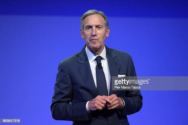 Howard Schultz Executive Chairman of Starbucks speaks during SeedsChips Summit on May 7 2018 in Milan ItalyThe summit which runs from May 7 until May...
