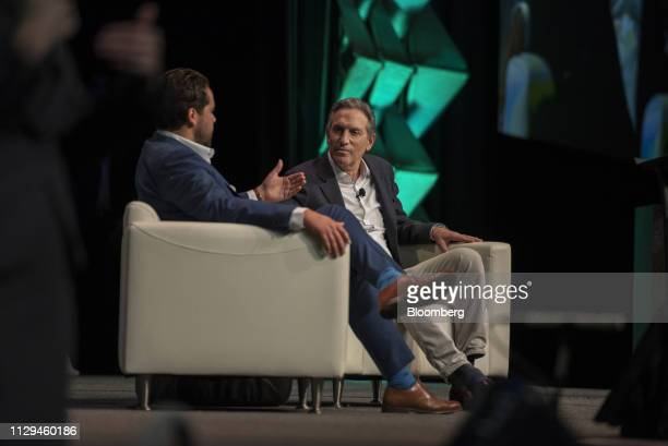 Howard Schultz former Starbucks CEO and potential independent presidential candidate speaks with NBC's Dylan Byers at the South By Southwest...