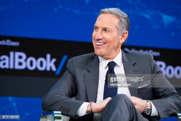 Howard Schultz speaks onstage at The New York Times 2017 DealBook Conference at Jazz at Lincoln Center on November 9 2017 in New York City