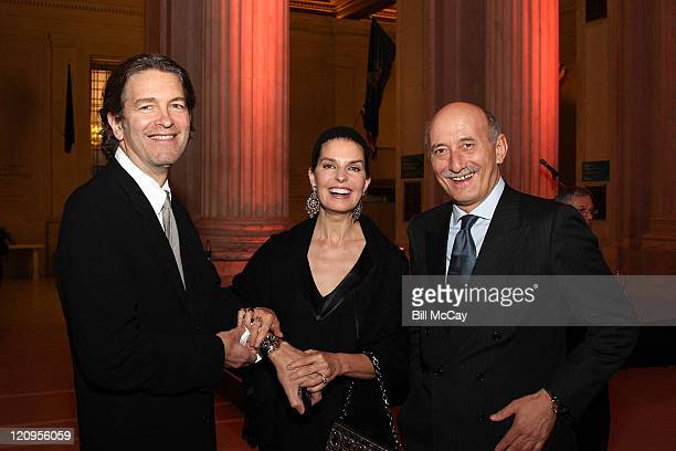 Howard Sherman, Actress Sela Ward and Angelo Bonati CEO of Officine Panerai and Professor Paolo Galluzzi attend the Officine Panerai Presents...