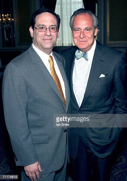 Howard Sherman and President of the American Theater Wing Douglas Leeds attend the The Tony Awards Honor Presenters And Nominees at the Waldorf...