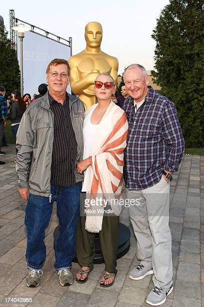 Howard Smith Lori Petty and David MacMillan attend the Academy of Motion Picture Arts and Sciences' screening of Point Break at Oscars Outdoors on...