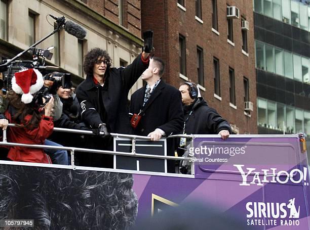 Howard Stern aboard the Yahoo Bus departing KRock Studios following his farewell broadcast