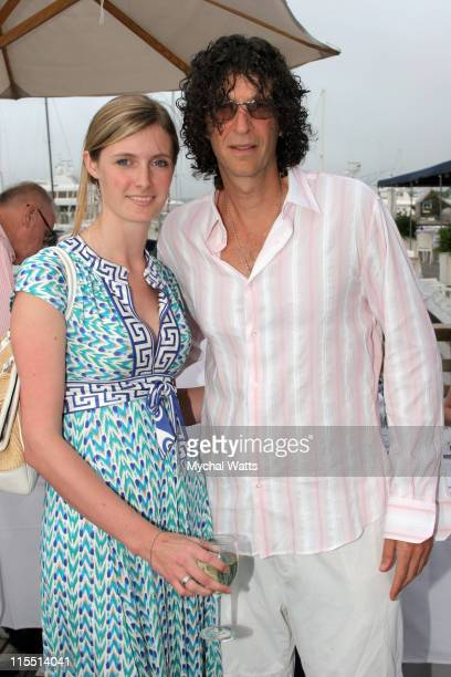 Howard Stern and Alexandra Reeve during Christopher Reeve Foundation Host's 2nd Annual Summer Solstice Celebration at B Smith's in Sag Harbor New...