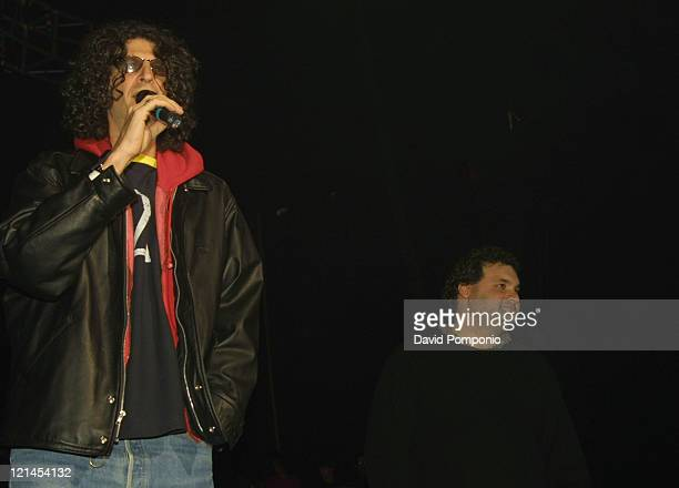 Howard Stern and Artie Lange during KRock ClausFest 2003 Day Two at Hammerstein Ballroom in New York City New York United States