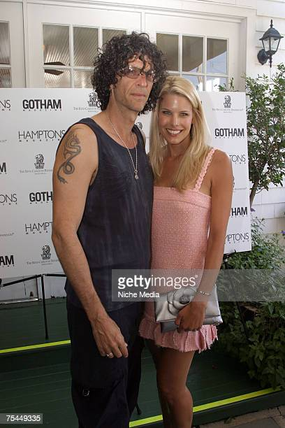 Howard Stern and Beth Ostrosky attend a Hamptons Magazine cocktail reception at Savanna's on July 14 2007 in South Hampton New York