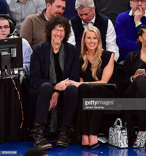 Howard Stern and Beth Ostrosky attend Cleveland Cavaliers vs New York Knicks game at Madison Square Garden on December 7 2016 in New York City