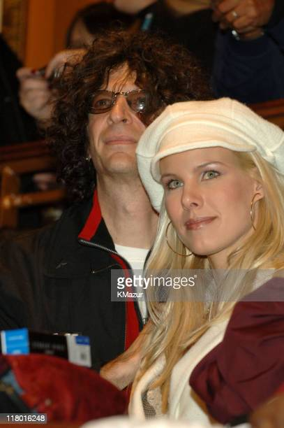 Howard Stern and Beth Ostrosky during Howard Stern Last Day Live Event Inside at Hard Rock Cafe Times Square in New York City New York United States