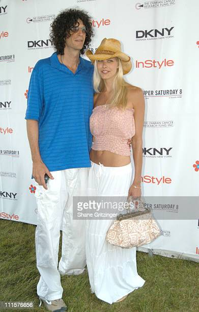 Howard Stern and Beth Ostrosky during Super Saturday 8 The World Famous Designer Garage Sale Benefiting The Ovarian Cancer Research Fund Hosted by...