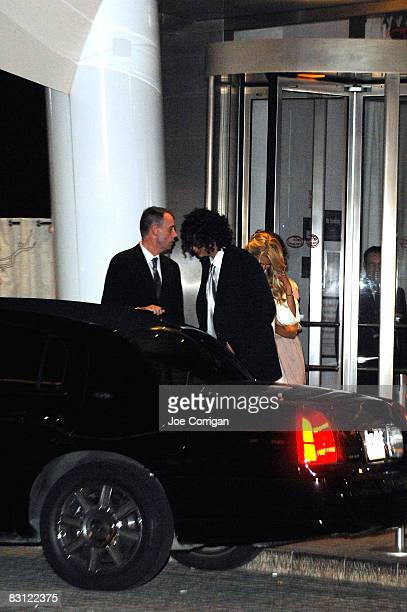 Howard Stern and Beth Ostrosky leave their wedding at Le Cirque on October 3 2008 in New York City