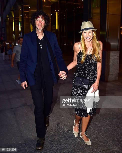 Howard Stern and Beth Ostrosky Stern are seen in Midtown on June 19 2016 in New York City