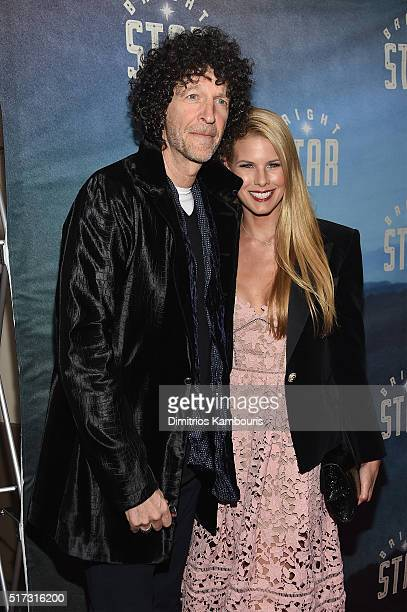 Howard Stern and Beth Ostrosky Stern attend 'Bright Star' Opening Night on Broadway at The Cort Theatre on March 24 2016 in New York City