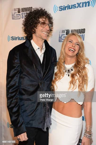 Howard Stern and Beth Ostrosky Stern attend Howard Stern's Birthday Bash presented by SiriusXM produced by Howard Stern Productions at Hammerstein...