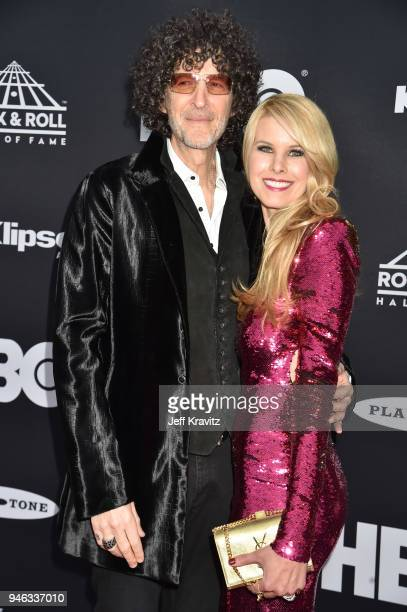 Howard Stern and Beth Ostrosky Stern attend the 33rd Annual Rock & Roll Hall of Fame Induction Ceremony at Public Auditorium on April 14, 2018 in...