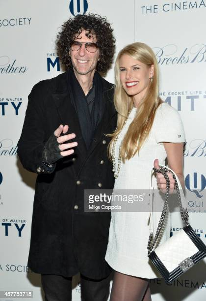 """Howard Stern and Beth Ostrosky Stern attend the """"The Secret Life Of Walter Mitty"""" screening hosted by 20th Century Fox with The Cinema Society and..."""