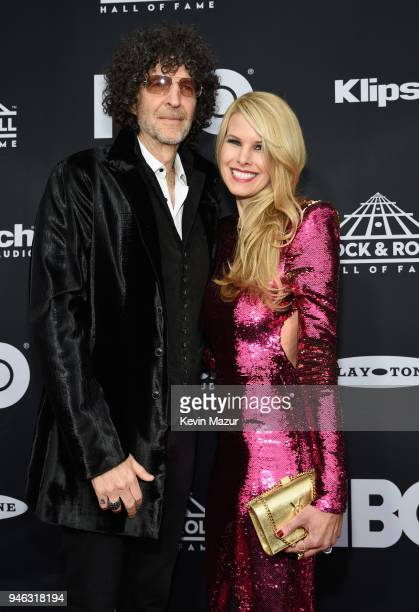 Howard Stern and Beth Stern attend the 33rd Annual Rock Roll Hall of Fame Induction Ceremony at Public Auditorium on April 14 2018 in Cleveland Ohio