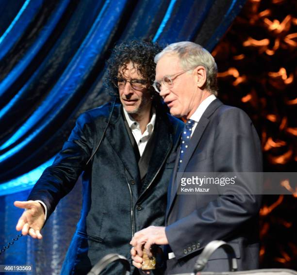 Howard Stern and David Letterman attend 'Howard Stern's Birthday Bash' presented by SiriusXM produced by Howard Stern Productions at Hammerstein...
