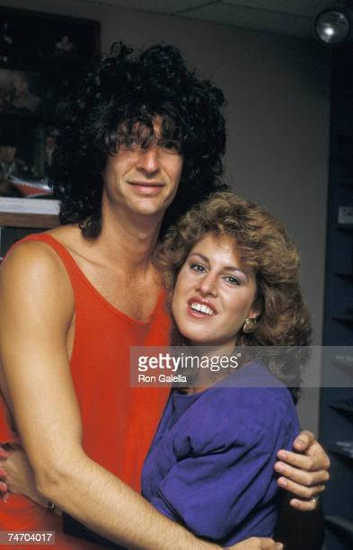 Howard Stern and Jessica Hahn at the KRock Studios in New York City New York