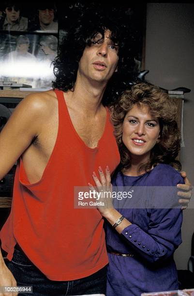 Howard Stern and Jessica Hahn during Jessica Hahn on Howard Stern Show at KRock Studios in New York City New York United States