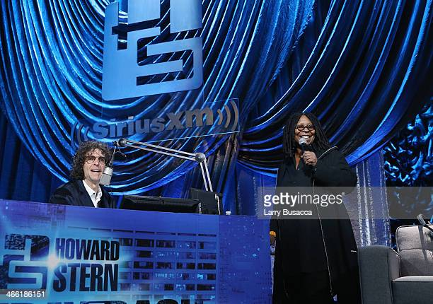 Howard Stern and Whoopi Goldberg attend Howard Stern's Birthday Bash presented by SiriusXM produced by Howard Stern Productions at Hammerstein...