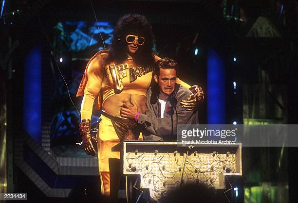 Howard Stern as Fartman during the 1992 MTV Video Music Awards in Los Angeles