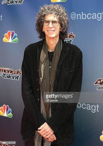 Howard Stern attends 'America's Got Talent' Red Carpet Event held at the Dolby Theater on April 22 2014 in Los Angeles California