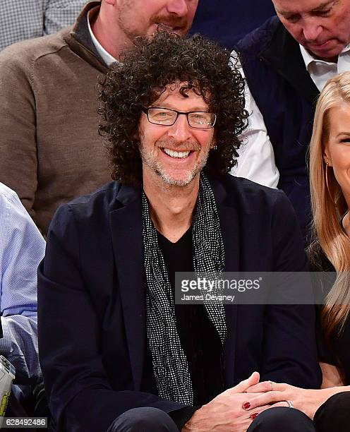 Howard Stern attends Cleveland Cavaliers vs New York Knicks game at Madison Square Garden on December 7 2016 in New York City