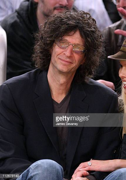 Howard Stern attends San Antonio Spurs vs NY Knicks game at Madison Square Garden in New York City on February 8 2008