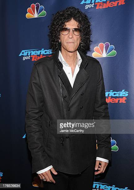 Howard Stern attends the America's Got Talent Post Show Red Carpet at Radio City Music Hall on August 14 2013 in New York City