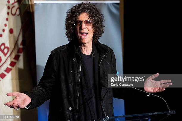Howard Stern attends the America's Got Talent Press Conference at New York Friars Club on May 10 2012 in New York City