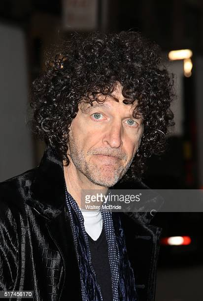 Howard Stern attends the Broadway Opening Night Performance of 'Bright Star' at the Cort Theatre on March 24 2016 in New York City