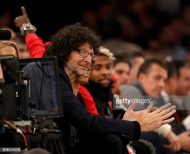 Howard Stern attends the game between the New York Knicks and the Cleveland Cavaliers at Madison Square Garden on December 7 2016 in New York City...